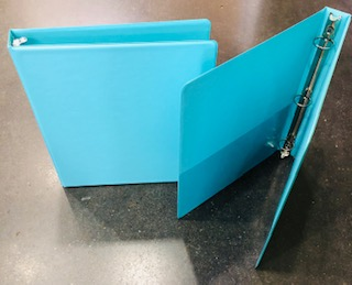 "BINDER  1"" ELECTRIC BLUE -FP"