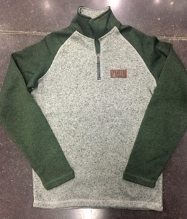 Image For 1/4 ZIP FLEECE WITH PATCH
