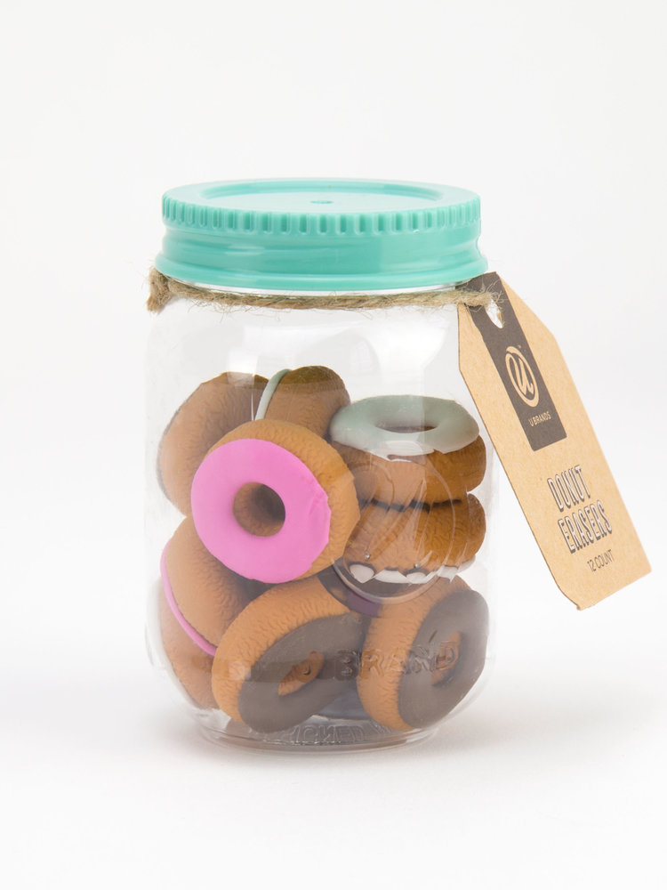 Cover Image For MASON JAR DONUT ERASERS