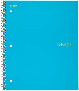 Image For 5 STAR 1 SUBJECT NOTEBOOK